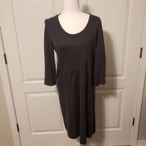 J. Crew charcoal sweater dress. Size large